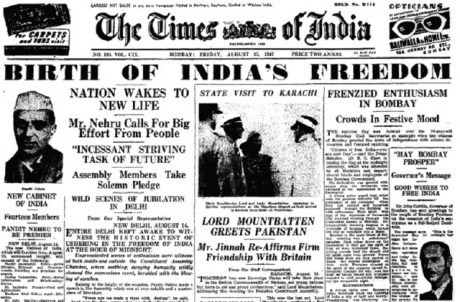 The Times of India August 15, 1947
